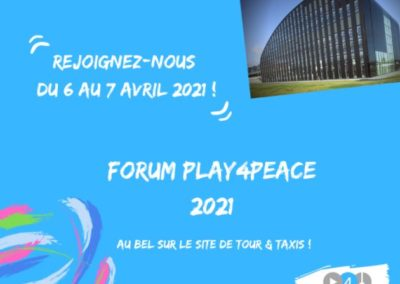 The NGO Play4Peace, Peace and Sport Award Winner, will celebrate April6 with a Forum
