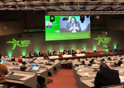 The International Communication Union (ITU) organizes a World Summit on the Information Society (WSIS)!