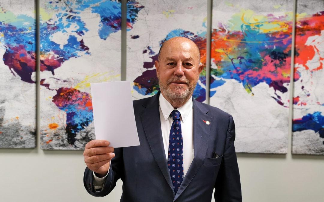 Le président de la Fédération mondiale de karaté, Antonio Espinós : Le 6 avril, le karaté est prêt à célébrer le sport comme outil de promotion de la paix