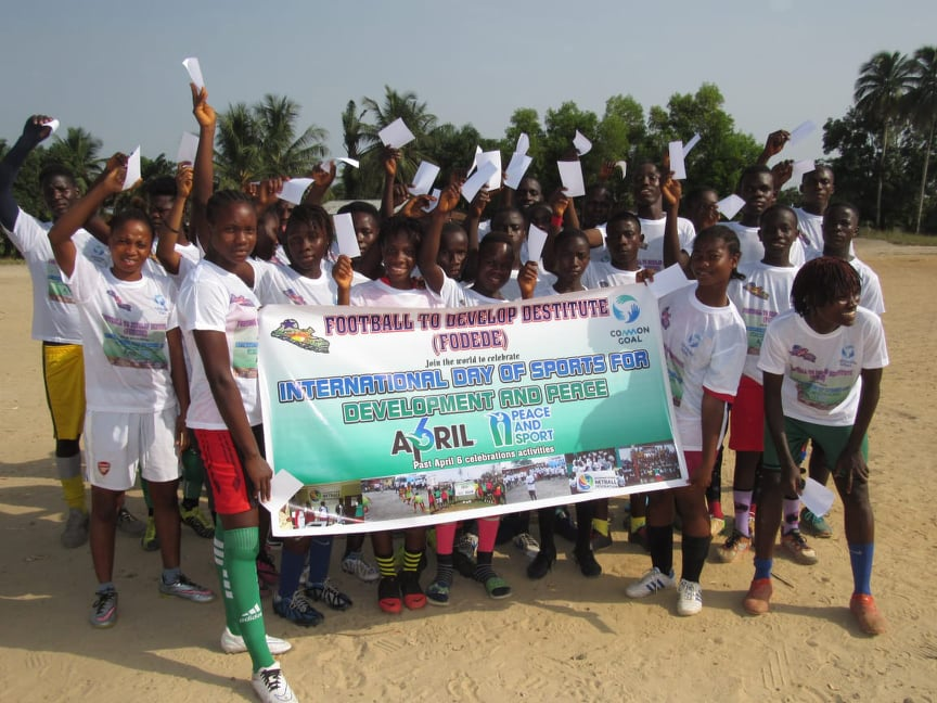 FODEDE in partnership with a female soccer team Earth Angels, Celebrates April6- Sport for Development and Peace with a launching of the #White Card campaign