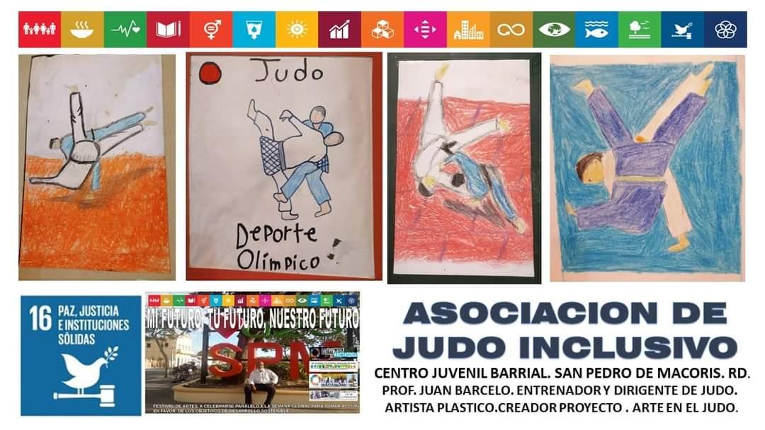 Asociación de Judo Inclusivo de la República Dominicana promoviendo el Arte con Tema El Judo.