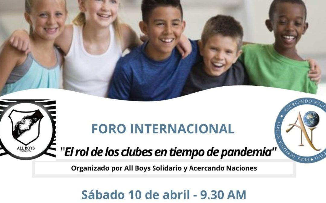 """""""El rol de los clubes en tiempo de pandemia"""""""