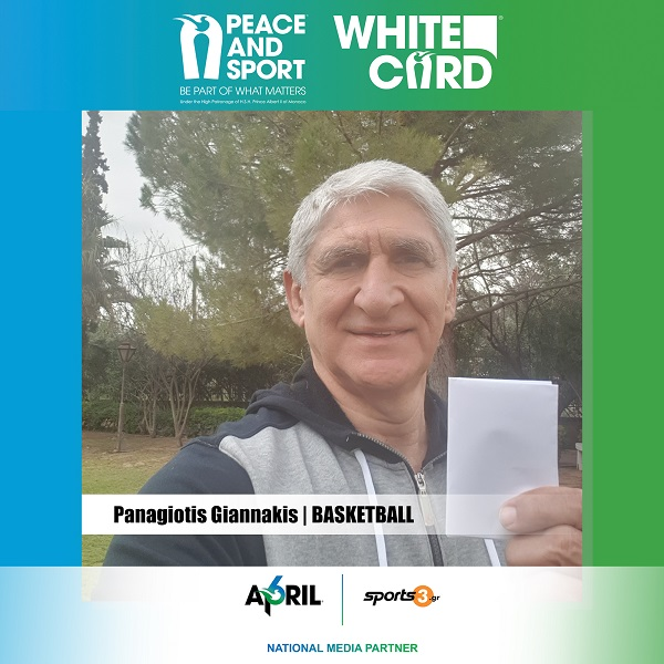 Sports3.gr – Peace and Sport: Panagiotis Giannakis raises… White Card!