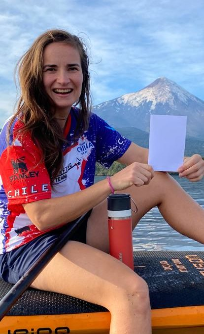 We grow together: Nicole Plagemann paddling in a mix team